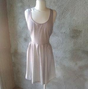 Striped skater dress L